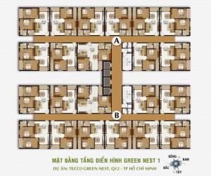 Mặt bằng tầng căn hộ Tecco Green Nest quận 12