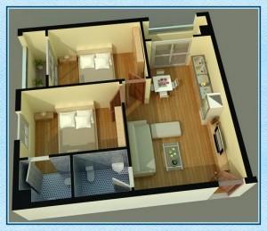 Diện tích căn hộ Tecco Green Nest quận 12 1