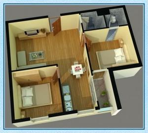 Diện tích căn hộ Tecco Green Nest quận 12 2
