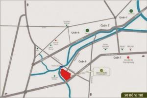 Vị trí dự án đất nền Osaka Garden Quận 8