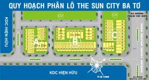 Bản đồ phân lô dự án đất nền The Sun City Ba Tơ