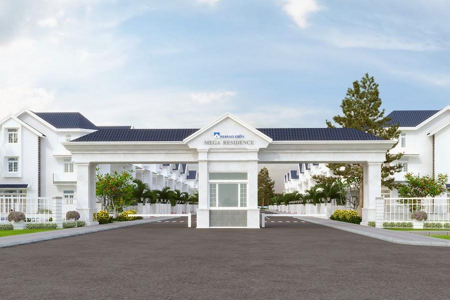 dự án Mega Residence quận 9 cổng vào