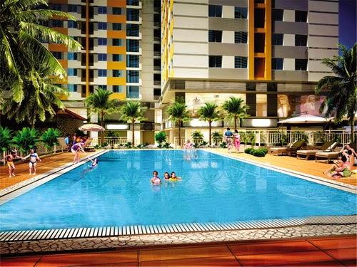 Hồ bơi căn hộ Hưng Ngân Garden