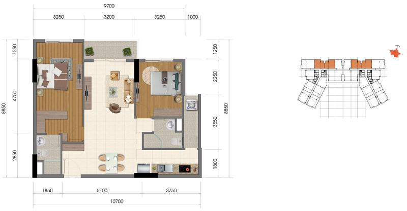 Thiết kế căn hộ Everrich Infinity 1