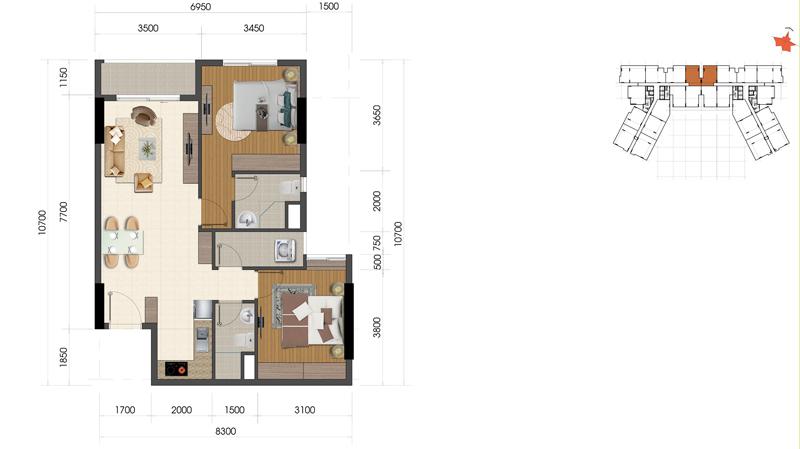 Thiết kế căn hộ Everrich Infinity 2