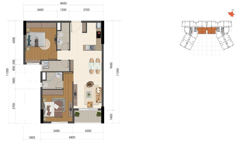 Thiết kế căn hộ Everrich Infinity 3