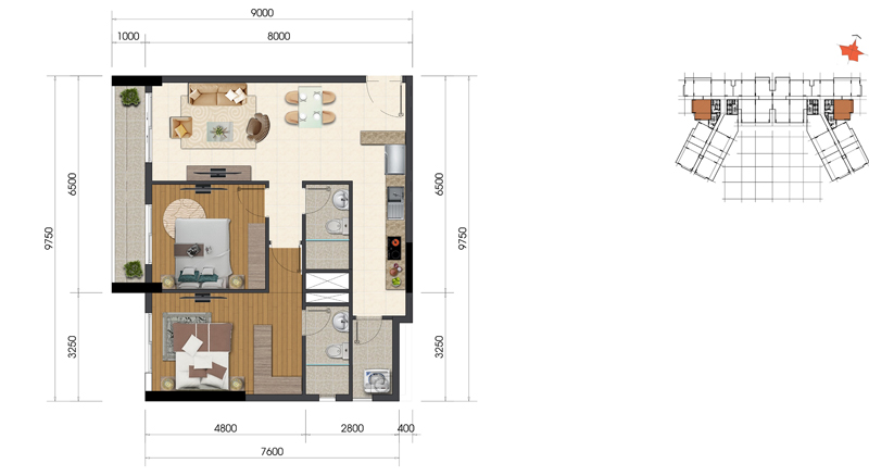 Thiết kế căn hộ Everrich Infinity 4