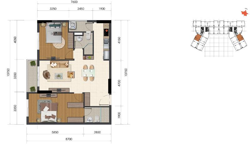 Thiết kế căn hộ Everrich Infinity 5