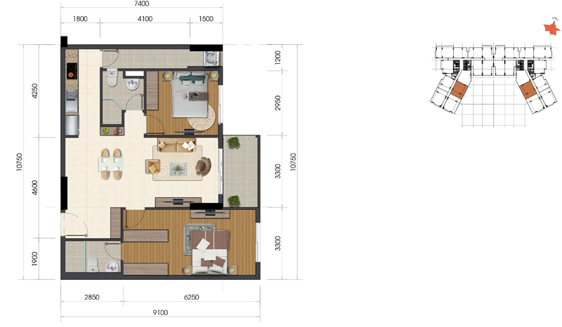 Thiết kế căn hộ Everrich Infinity 6