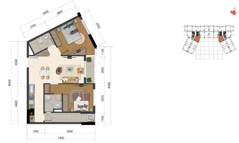 Thiết kế căn hộ Everrich Infinity 8