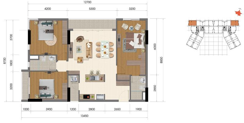 Thiết kế căn hộ Everrich Infinity 7