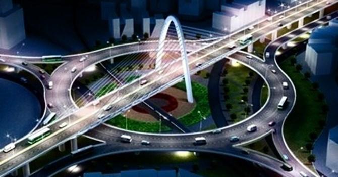 Cầu vượt 3 tầng tại Đà Nẵng