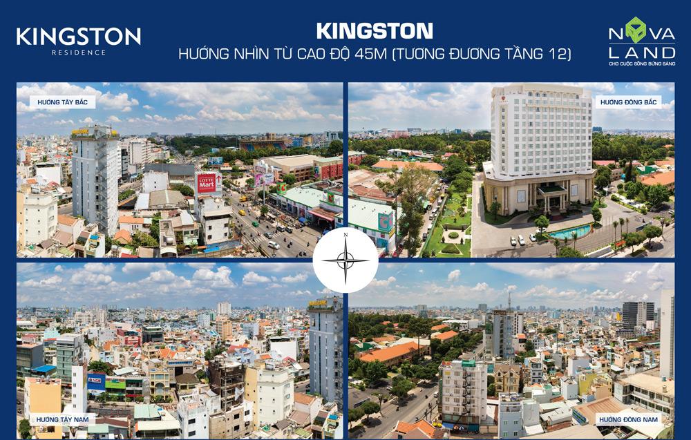 View của căn hộ Kingston ra các công viên lớn