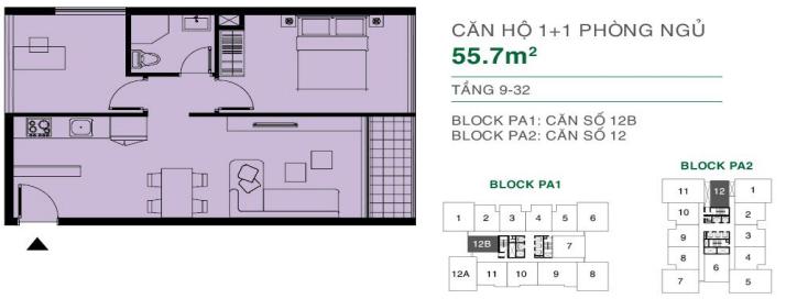 can ho The Park Avenue Quan 11 55.7m2