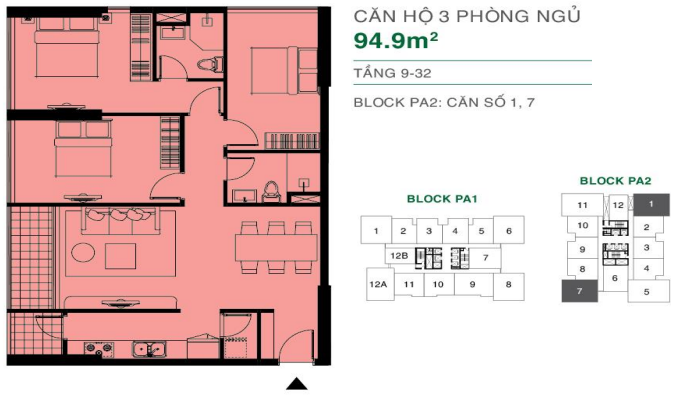 can ho The Park Avenue Quan 11 94.9m2