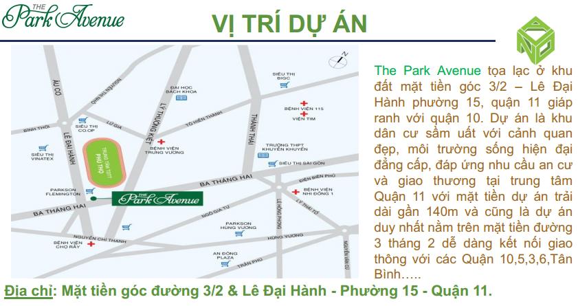 vi tri can ho the park avenue