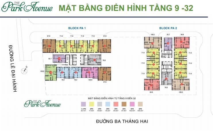 mat bang tang the park avenue quan 11