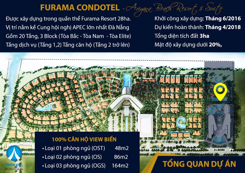 mat bang tang furama ariyana condotel da nang
