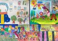 200 em thiếu nhi cùng tham gia lễ hội vẽ tranh Vinhomes